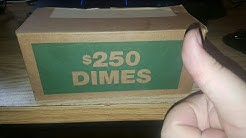 AWESOME DIME BOX!!! COIN ROLL HUNTING DIMES!!!
