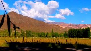 Turismo en Uspallata - Mendoza, Argentina. Cordillera de los Andes. HD