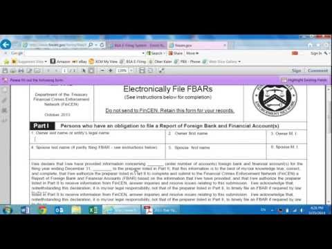 How to File the FBAR Yourself