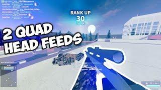 Rank Up Quad Head Feed!! ROBLOX Phantom Forces