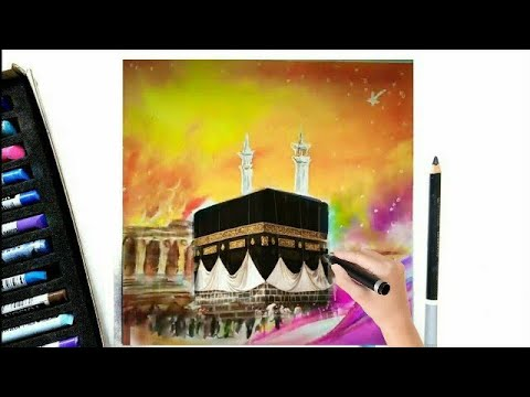 How to paint with soft pastels - Time-lapse of mecca