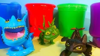 Clay Slime Surprise How to Train Your Dragon toys