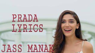 PRADA LYRICS VIDEO SONG || JASS MANAK|| HD VIDEO