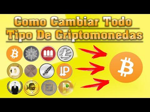 Como Cambiar Todo Tipo De Criptomonedas Por Bitcoin Fácil Y Rápido✔
