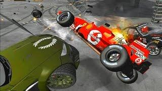 Дерби на FORMULA 1 в игре FlatOut 2 'Most Wanted 2011'