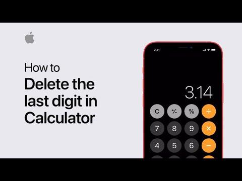 Swipe to delete in Calculator –Apple Support