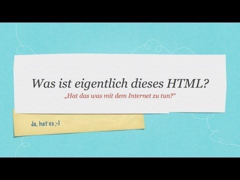 Was Ist Eigentlich HTML? #HTML-Tutorial