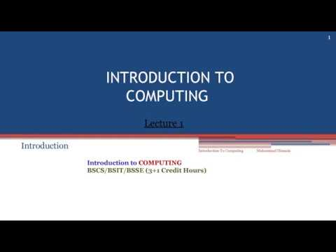introduction to computer lectures  no  1