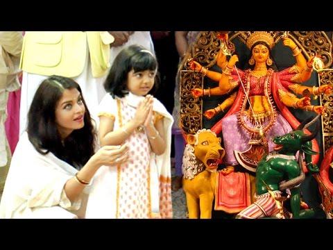 Aishwarya Rai's CUTE Daughter Aaradhya Doing Durga Pooja