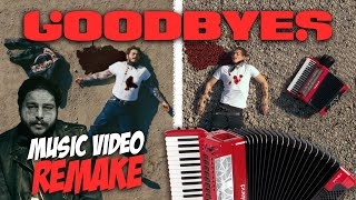 """Post Malone """"Goodbyes"""" Accordion Music Video Remake"""