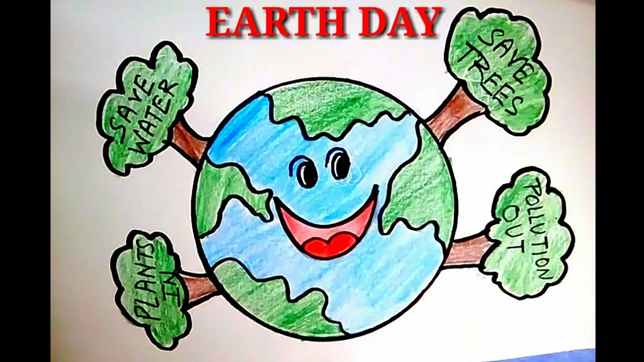 How To Draw Save Earth Save Life L Happy Earth Day Drawing Poster