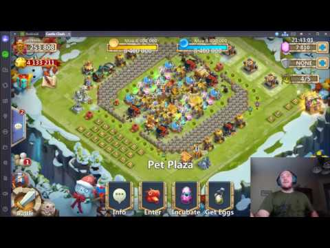 Castle Clash - Rolling 35k Gems For Talents And Opening Other Rewards.