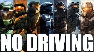 Beating EVERY Halo Game WITHOUT Driving?
