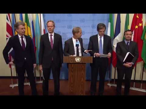 Joint European Union on the Middle East - Security Council Media Stakeout (08 December 2017)
