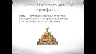 Видео   лекция  Социальная структура общества