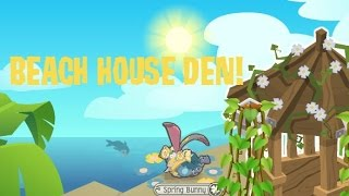 BEACH HOUSE DEN! | Animal Jam Updates | +Speed Den Decorating