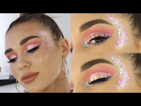 Mystery Box Of Makeup Challenge!! | Festival Makeup Tutorial!