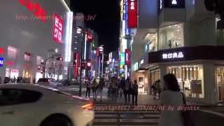 Japan Trip 2014 Tokyo Shinjuku Night view Stroll in the Shinjuku-dōri