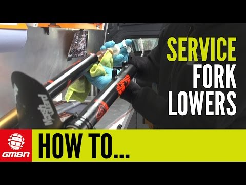 How To Service Your Fox Suspension Fork Lower Legs   Mountain Bike Maintenance