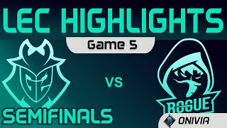 G2 vs RGE Highlights Game 5 Semifinals LEC Summer Playoffs 2020 G2 Esports vs Rogue by Onivia