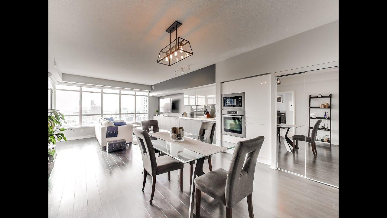 Toronto real estate downtown condo 2 bedroom 2 bath 151 dan leckie way 1001 youtube for 2 bedroom condo for sale toronto