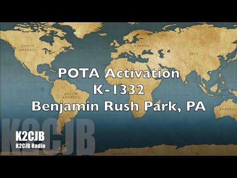 POTA Activation K-1332 Benjamin Rush Park PA