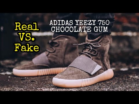 bd855d51 BEST Real vs. Fake // Yeezy 750 Chocolate Gum - YouTube