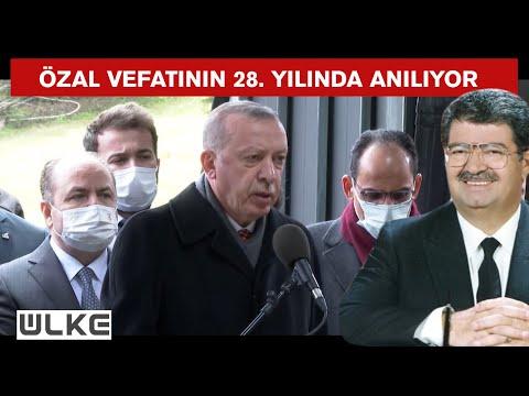 Cumhurbaşkanı Erdoğan, Turgut Özal'ın kabrinde Kuran-ı Kerim okudu