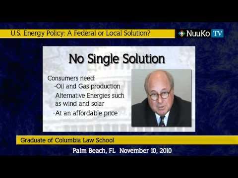 Warren Belmar -  US Energy Policy - A Federal or Local Solution?