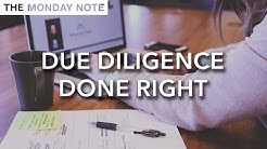 Due Diligence Done Right - The Monday Note