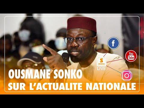 Direct: Déclaration de presse de Ousmane SONKO