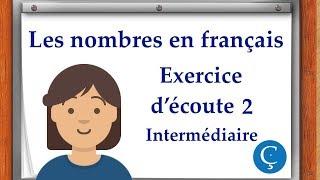 Les nombres en français: exercice d'écoute 2