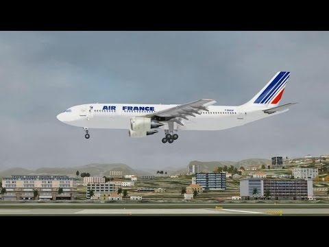 FSX Approach and landing in Nice Côte d'Azur International Airport (LFMN) Airbus A300