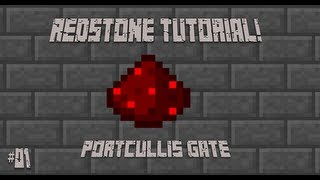 "MINECRAFT - REDSTONE TUTORIAL - Ep.1 ""Portcullis Gate!"" (HD)"