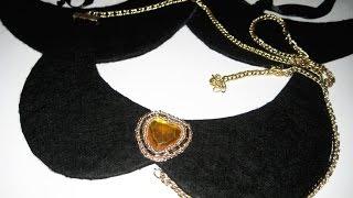DIY Как сделать основу для воротника и колье \ How to make the necklace base Tutorial