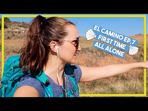 WALKING THE CAMINO Ep. 7 | first time walking alone