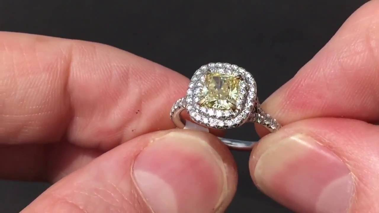 161967695 Tiffany Soleste Cushion Diamond Engagement Ring For Sale $12,000 - YouTube