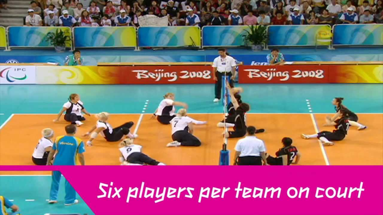 wheelchair volleyball child s table and chairs set london 2012 sitting youtube