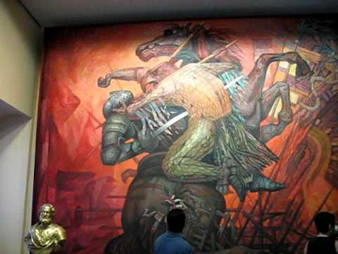 Mural la fusion de dos culturas youtube for Diego rivera la conquista mural