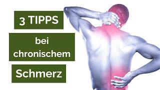 3 Tipps, die Du mit chronischen Schmerzen auf jeden Fall beachten solltest