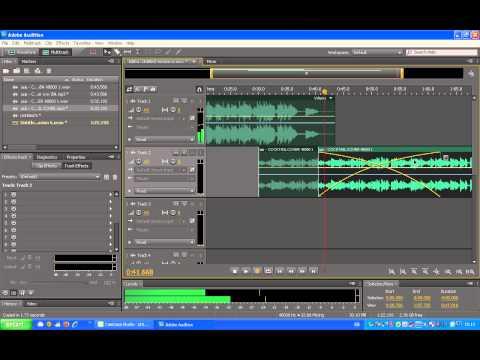 วิธีการรวมเพลง โดยโปรแกรม adobe audition cs5.5