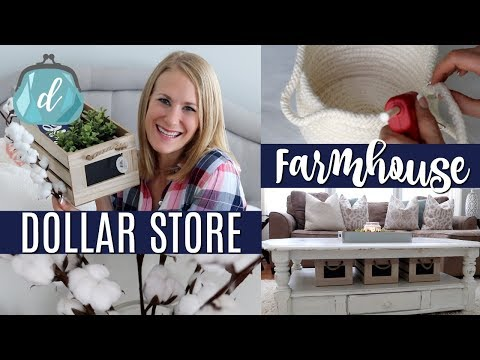 *NEW* DOLLAR STORE FARMHOUSE DECOR & HAUL! 💙 Nothing over $3!