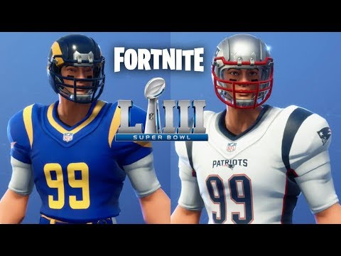 Download Fortnite - Patriots and Rams Super Bowl LIII Uniforms Added to End Zone Skin!