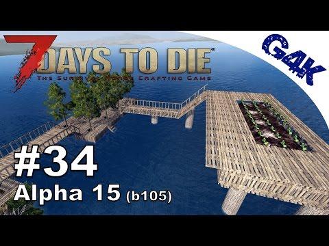 7 Days To Die   WATER FARM & ODD WALL DESIGN   7 Days to Die Gameplay Alpha 15   S09E34
