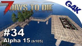 7 Days To Die | WATER FARM & ODD WALL DESIGN | 7 Days to Die Gameplay Alpha 15 | S09E34