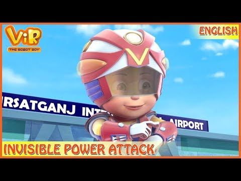 Vir: The Robot Boy | 3D Action Shows For Kids | Invisible Power Attack | ENGLISH