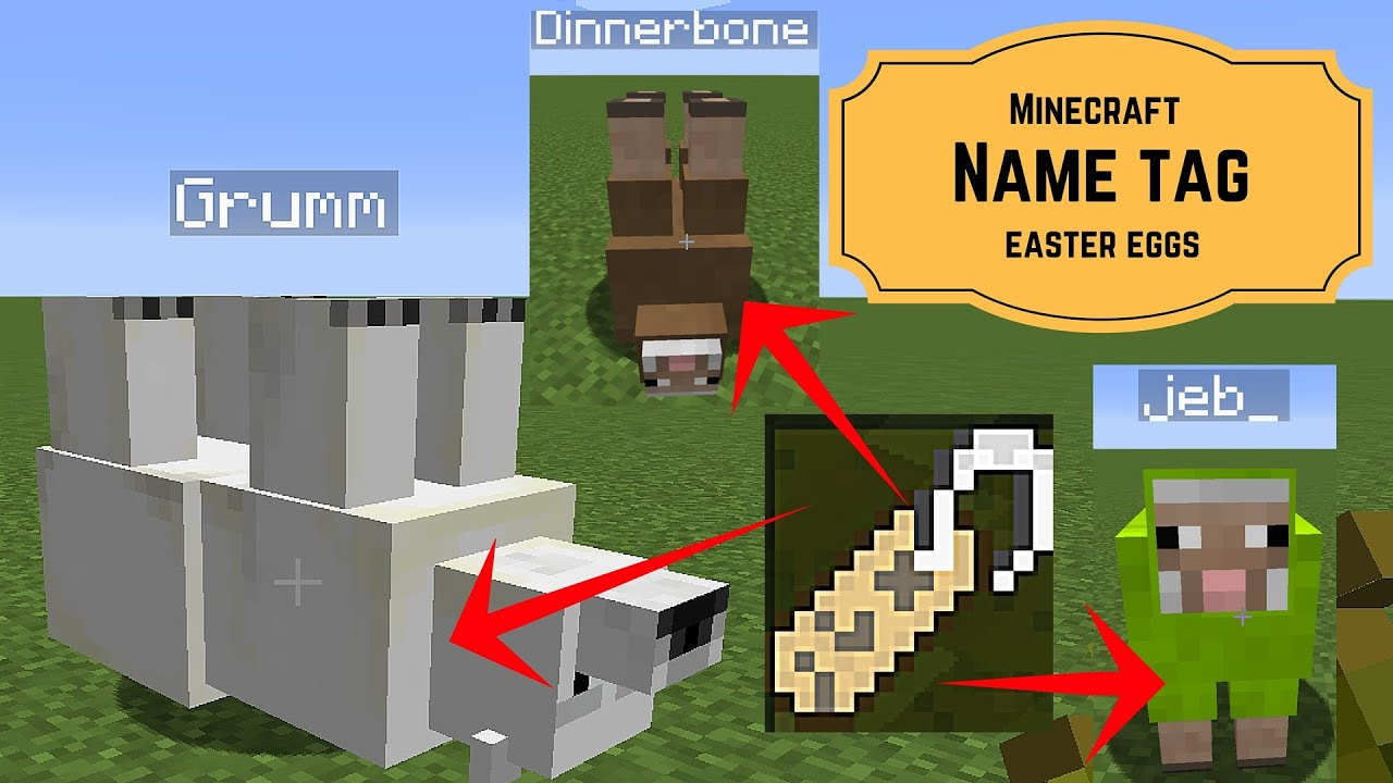 Name Tag Minecraft minecraft name tag easter eggs - how to create an upside down