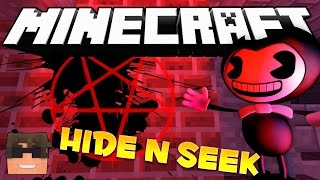 Minecraft BENDY Hide and Seek! (Minecraft BENDY Modded Hide N Seek Minigame!)