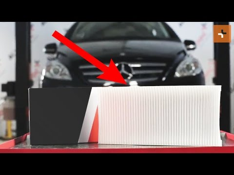 Wie Mercedes Benz B W245 Innenraumfilter Wechseln Tutorial