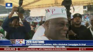2019 Elections: PDP Presidential Candidate, Atiku Abubakar Campaigns In Kogi